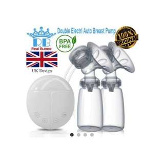 (ORI) Real Bubee Double Electric Auto Breastpump Breast Pump Pam Susu