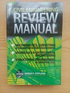 Civil Engineering Review Manual by Dindo Esplana