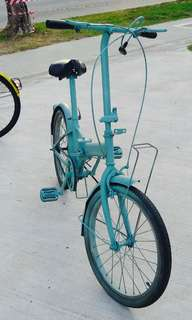 Foldable Turquoise Bicycle for Adults