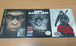 Planet of the Apes bluray complete set
