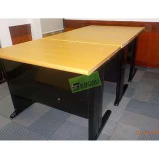 FST-OFFICE TABLE-33 100X70 BEECHWOOD TOP BLACK LEGS--KHOMI