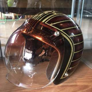 Retro Helmets with many designs & colors / visors separate