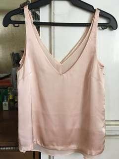 H&M Peach Sleeveless Top