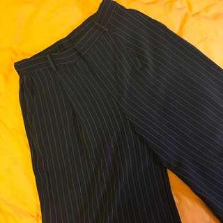 🚚 Uniqlo 條紋寬褲