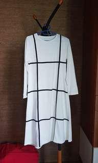 CUMA 100 RIBU!! White Dress Motif