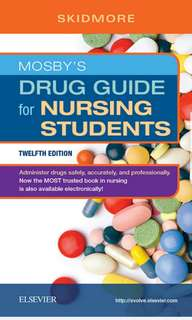 Mosby's Drug guide for Nursing 12 Ed (2018) PDF copy only