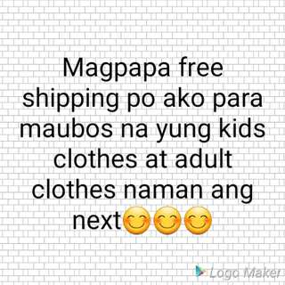 Free free shipping metro manila only😊😊Worth of 500 peso purchased