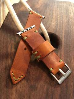 applewatch leather strap(Italy leather)hand crafted