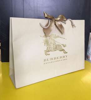 Authentic Burberry Paper Bag