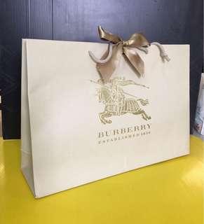 Authentic Burberry Paper Bag