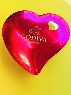Godiva酒紅色的心朱古力🍫