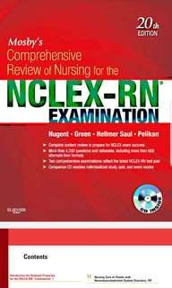 Mosby's Comprehensive review for Nursing for NCLEX Exam 20th Ed (Soft copy)