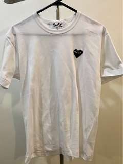 CDG Play Small Blackheart Teeshirt Size M