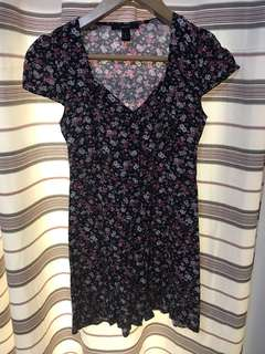 Foreve 21 Floral Button Down Dress