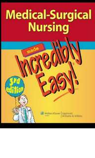 Medical Surgical Incredibly Easy soft copy