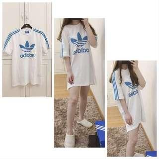Adidas oversize Long T-shirt / one-piece dress / skirt / Blouse