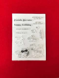 Animals #37 scrapbook clear stamps