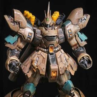 MG1/100 Sazabi ver.Ka 客製重新上色, 眼部可發光,高達模型Gundam