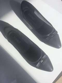 VERALI black bow ballet shoes pointed