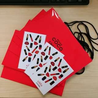 coco chanel 紙袋 貼紙