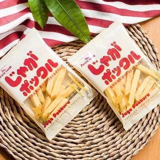 日本进口零食卡乐比薯条三兄弟日本北海道薯条Calbee