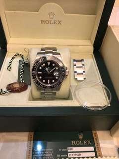 新淨Rolex 116710Ln 6針行貨fullset(小有special 面)值得收藏