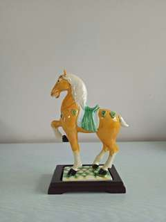 80s 🐴 H19cm New In Original Box With Wood Stand Perfect
