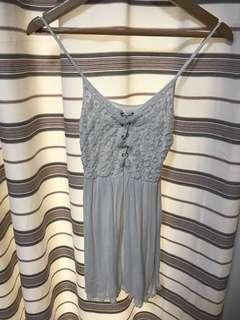 Forever 21 White Bohemian Spaghetti Dress