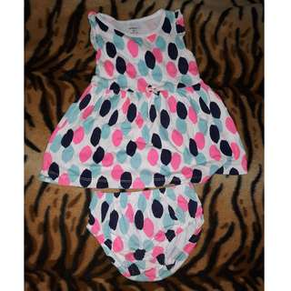 Carters dress with diaper cover