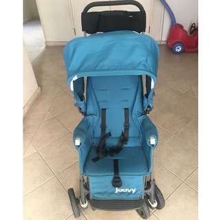 Joovy Cabooe Ultralight Graphite (Turq) - Double Stand-On Tandem Stroller