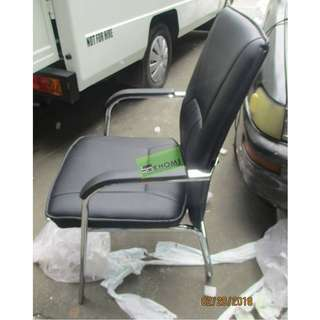 VC-R200 VISITORS CHAIRS BLACK LEATHERETTE--KHOMI