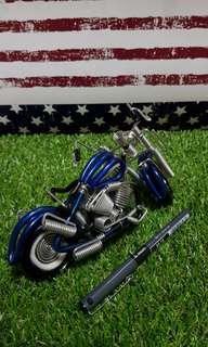 Handmade wire motorcycle display ornament (Model MC)