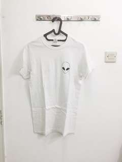 Alien White Shirt
