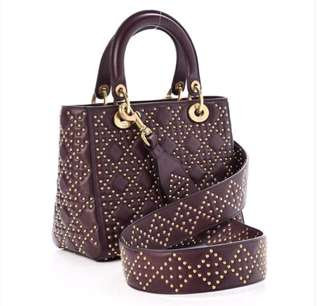 Lady dior studded bag medium size