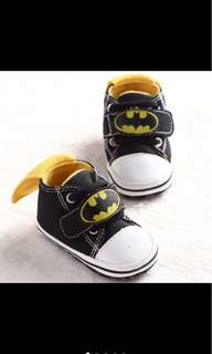 Baby boy kid batman infant newborn toddler soft shoe first shoe prewalker