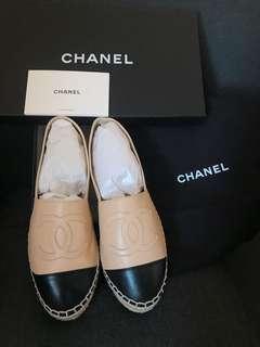 Chanel Espadrilles 草鞋 漁夫鞋 37 39 平底鞋 flat