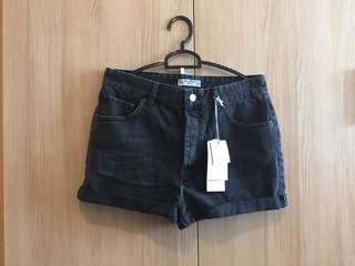 Pull & Bear High Waist Button Shorts