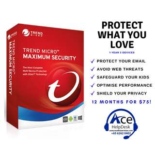 Trend Micro Maximum Security 1 Year 3 Device