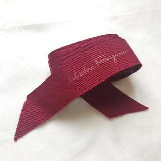 Salvatore Ferragamo gift ribbon 147 cm for bag wallet clutch box 禮盒絲帶