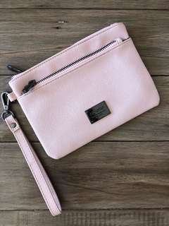 Pale pink clutch/pouch bag