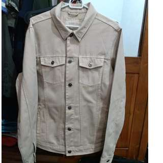 Pull & Bear Trucker Jacket Beige