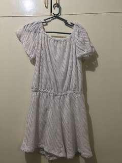 Off-shoulder onesie