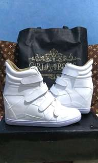 Sneakers wedges white