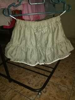 Cute Navy Green Style Skirt Cum Pants