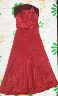 Pre-loved Red Bridesmaid's Gown