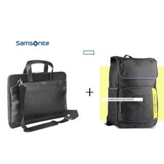 SAMSONITE 15.6 SLIM BAG  + 15.6 BACKPACK