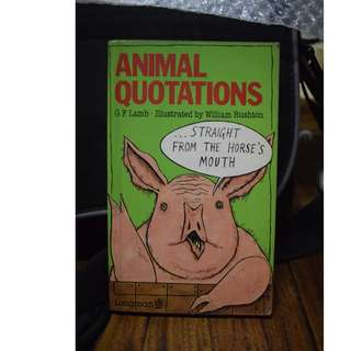 Animal Quotations by GF Lamb (Animal Quotes)