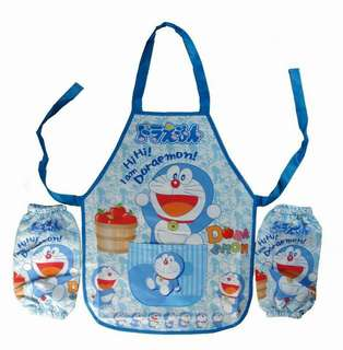 Cute Kids Apron Set (Doraemon)