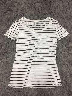 H&M striped tshirt (XS)