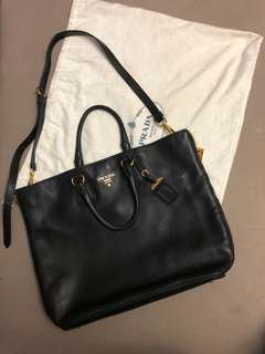 Prada 2 way tote bag